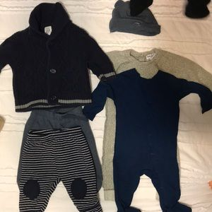 Navy and gray 0-3m splendid and gap bundle